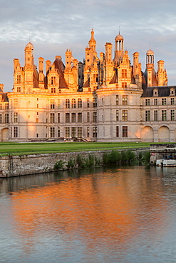 Chateau de Chambord, north facade, department of Loire et Cher, Centre region, France, Europe
