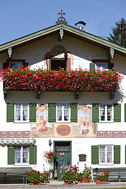 Laichhansen farmhouse, Jachenau-Laich, Isarwinkel, Upper Bavaria, Bavaria, Germany, Europe