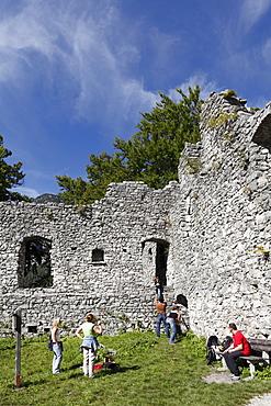 Werdenfels castle ruin near Garmisch-Partenkirchen, Werdenfelser Land region, Upper Bavaria, Bavaria, Germany, Europe