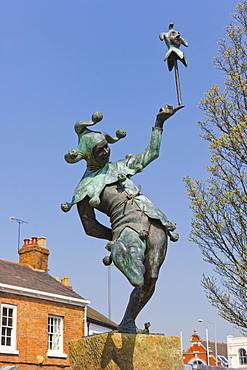 The Jester statue by James Butler, Henley Street, Stratford-upon-Avon, Warwickshire, England, United Kingdom, Europe