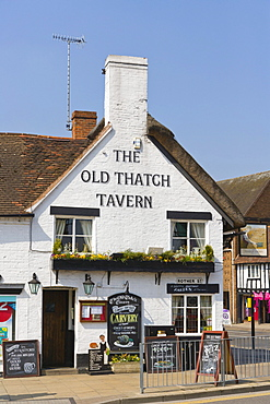 The Old Thatch Tavern, Rother Street, Stratford-upon-Avon, Warwickshire, England, United Kingdom, Europe
