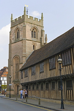 The Guild Chapel, Church Street and Chapel Lane, Stratford-upon-Avon, Warwickshire, England, United Kingdom, Europe