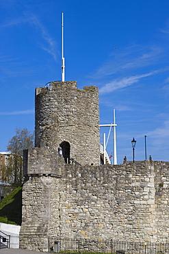 Arundel Tower, medieval city walls, city centre, Southampton, Hampshire, England, United Kingdom, Europe