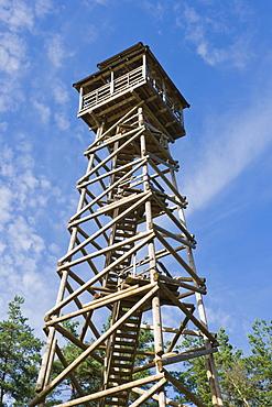 23 m Priedaines skatu tornis, Priedaine viewing tower, Nature Reserve Augsdaugava, Latvian State Forest, Kaplava parish, Kraslava district, Latgale, Latvia, Northern Europe