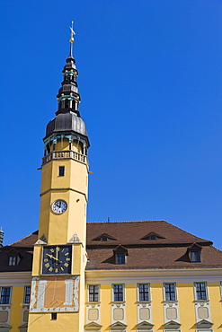 Town Hall, Rathaus, Radnica, Hauptmarkt, Main Market, Bautzen, Budysin, Budysyn, Budziszyn, Dresden region, Eastern Saxony, Upper Lusatia, Germany, Europe