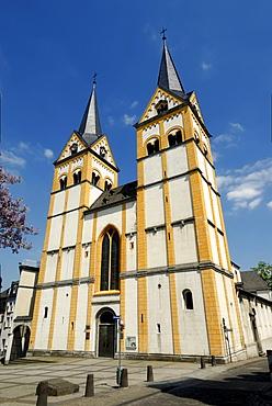 Florinskirche, Florin Church, Florinsmarkt, old town of Koblenz, UNESCO World Heritage cultural landscape site of the Upper Middle Rhine Valley, Oberes Mittelrheintal, Rhineland-Palatinate, Germany, Europe