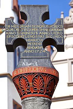 Marktkreus, Market Cross, Hauptmarkt square, Trier, Rhineland-Palatinate, Germany, Europe