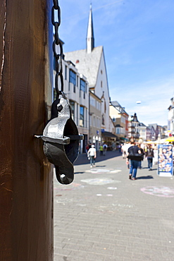 Pillory, Hauptmarkt square, Trier, Rhineland-Palatinate, Germany, Europe