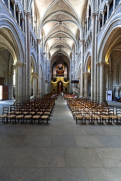 The Cathedral of Notre-Dame, former episcopal church of the diocese of Lausanne, now main Protestant church of the city of Lausanne, Canton Vaud, Lake Geneva, Switzerland, Europe