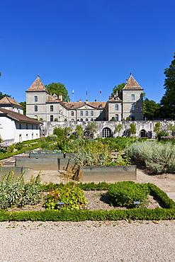 Castle of Prangins, Baroque castle, Prangins, canton of Vaud, Switzerland, Europe