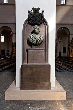 Georg II Caroli, Cathedral of St. Kilian or Wuerzburg Cathedral, Wuerzburg diocese, Kardinal-Doepfner-Platz square, Wuerzburg, Bavaria, Germany, Europe