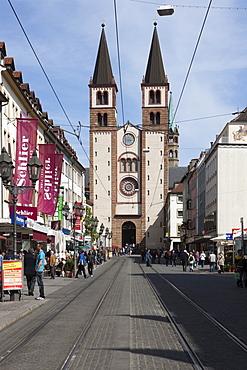 Cathedral of St. Kilian, Wuerzburg Cathedral, Cardinal Doepfner Square, Diocese of Wuerzburg, Wuerzburg, Bavaria, Germany, Europe