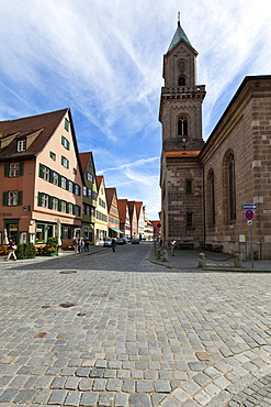 Historic district of Dinkelsbuehl, administrative district of Ansbach, Middle Franconia, Bavaria, Germany, Europe