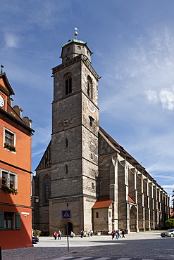 St. George's Minster, Dinkelsbuehl, administrative district of Ansbach, Middle Franconia, Bavaria, Germany, Europe
