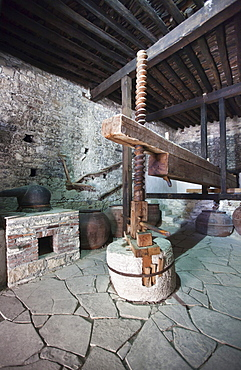 Old wine press, Omodos, Troodos Mountains, Central Cyprus