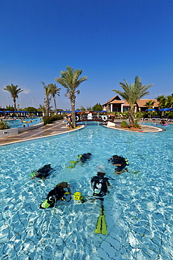 Diving course for teens in the swimming pool, Club Aldiana, Southern Cyprus, Cyprus, Europe