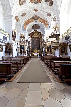 St. Walburg monastery, Benedictine abbey of Eichstaett, Diocese of Eichstaett, Eichstaett, Altmuehltal valley, Upper Bavaria, Bavaria, Germany, Europe