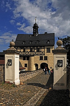 Administrative building, 1635, of Schloss Burgk Castle, 16th Century, Burgk an der Saale, Thuringia, Germany, Europe