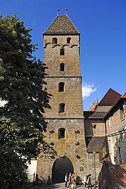 Butchers' Tower, 1349, Unter der Metzig, city walls, Ulm, Baden-Wuerttemberg, Germany, Europe