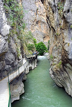 Saklikent Canyon nature park, Esen Cay River gorge, rock canyon in the Ak daglar, Akdagi Mountains, Fethiye in the district of Mugla, Turkey, Eurasia