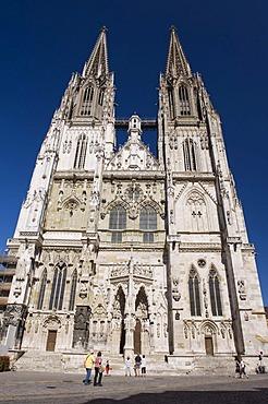 Regensburg Cathedral, UNESCO World Heritage Site, Regensburg, Upper Palatinate, Bavaria, Germany, Europe