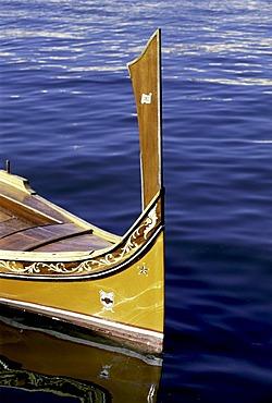 Luzzu, traditional fishing boat, Marsaxlokk harbour, Malta, Europe