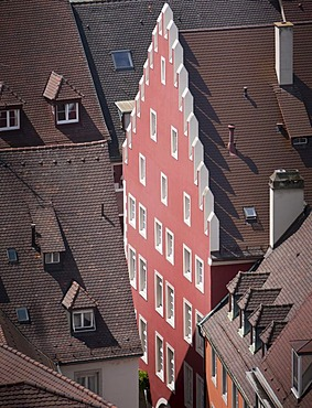 Facade in the old town of Freiburg im Breisgau, Baden-Wuerttemberg, southern Germany, Germany, Europe