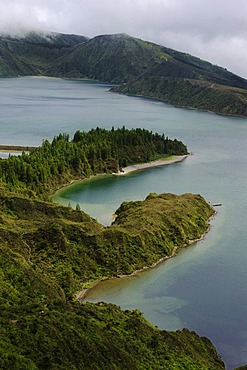 Crater lake Lagoa do Fogo on the island of Sao Miguel, Azores, Portugal