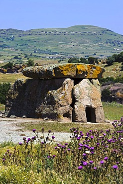 Dolmen of Sa Coveccada near Mores, megalithic culture, 3000 to 600 BC, Sassari Province, Northern Sardinia, Italy, Europe
