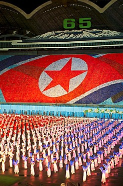 Airang, North Korean mass spectacle of the 65th Anniversary of the founding of the country of North Korea, Pyongyang, North Korea, East Asia