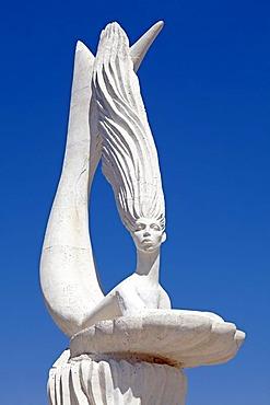 Statue at the port, Marmaris, Turkish Aegean, Turkey, Asia