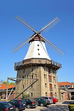 Windmill in Kappeln on the Schlei Inlet, Schleswig-Holstein, Germany, Europe