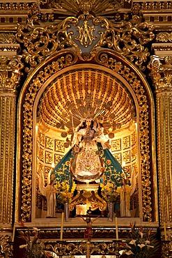 Altar of the church of San Miguel Arcangel Gabriel, Arequipa, Peru, South America