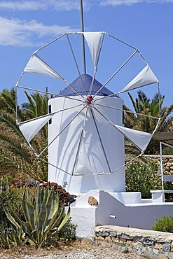 Model of a traditional windmill, Koufonisi island, Cyclades, Aegean Sea, Greece, Europe
