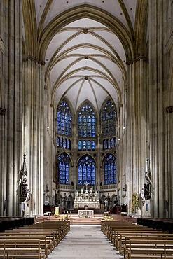 Interior, Regensburg Cathedral, UNESCO World Heritage Site, Regensburg, Bavaria, Germany, Europe