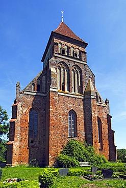Marienkirche, St. Mary's Church, historic church from the 13th century, in Brandshagen, municipality of Sundhagen, Nordvorpommern district, Mecklenburg-Western Pomerania, Germany, Europe