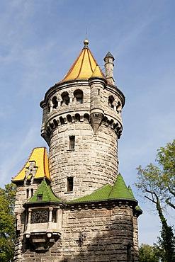 Mutterturm tower, studio of Hubert von Herkomer, built in 1844, Herkomermuseum, Landsberg am Lech, Bavaria, Germany, Europe