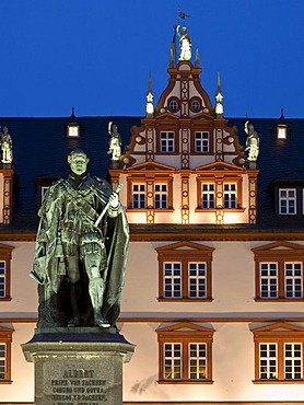 Prince Albert memorial and town house, Coburg, Franconia, Bavaria, Germany, Europe