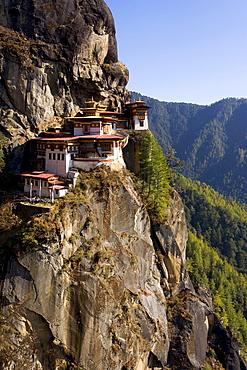 Taktsang Monastery, 3120m, also known as Tiger's Nest, Paro, Bhutan, Kingdom of Bhutan, South Asia
