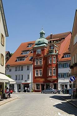 Historic building with pharmacy, Wangen, Allgaeu, Baden-Wuerttemberg, Germany, Europe