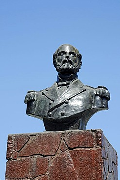 Monument to Captain Arturo Prat, War of the Pacific or Saltpeter War, Vina del Mar, Chile, South America