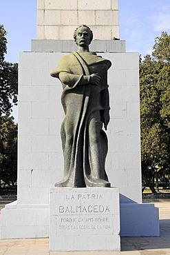 Jose Manuel Balmaceda, former President, monument, statue, victory column, Santiago de Chile, Chile, South America