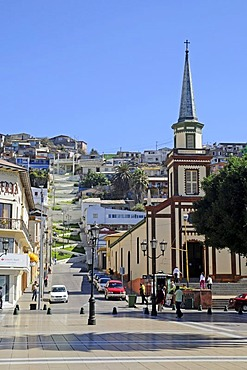 San Pedro, church, city view, Coquimbo, La Serena, Norte Chico, northern Chile, Chile, South America