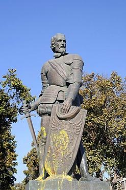 Francisco de Aguirre, Spanish conqueror, warrior, soldier, sculpture, La Serena, Norte Chico, northern Chile, Chile, South America