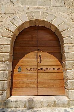 Front door, Museu Arqueologic, Archaeological Museum, Eivissa, Ibiza, Pityuses, Balearic Islands, Spain, Europe