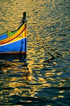 Typical fishing boat, Malta, Europe