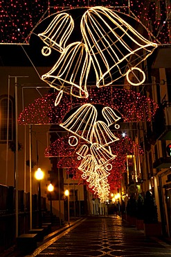 Christmas decorations, Funchal, Madeira, Portugal, Europe