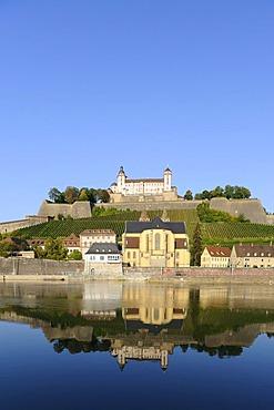 Fortress Marienberg, Wuerzburg, Lower Franconia, Bavaria, Germany, Europe