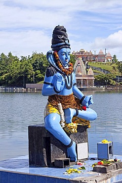 Statue of Lord Shiva at the Grand Bassin sacred lake, Mauritius, Africa