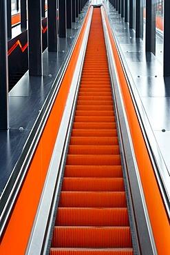 Escalator, Ruhr Museum, Zeche Zollverein coal mine, Essen, North Rhine-Westphalia, Germany, Europe